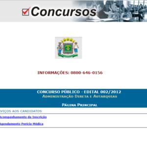 Concurso Prefeitura de Goiania de 2012 - Administracao Direta e Autarquias